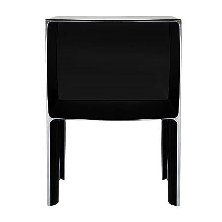 Kartell 03220E6 Ghost Buster Kommode, Plastik, schwarz / opaque, 37 x 57 x 40 cm