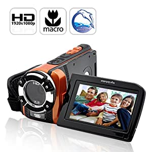 Powerful Ultra Rugged HD Digital Sport Camcorder (16MP, 1920X1080@30FPS, HDMI, Macro) - Lightweight