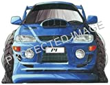 Subaru Impreza P1 white Car Sticker Decal - Koolart