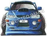 Subaru Impreza P1 white Car Sticker Decal - Koolart