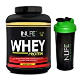 Inlife Whey Protein Powder with Free Shaker - 5 lb (Mango Flavour)