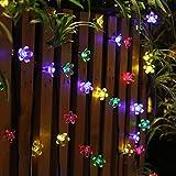 Innoo Tech Solar String Lights Outdoor Flower Garden Light 21ft 50 LED Multi Color Blossom Lighting for Christmas, Garden Indoor Wedding Party Decoration Patio Light RBG Fairy