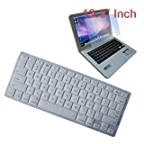 Premium Clear Soft Silicone Keyboard Skin Cover + 13.3 inch Clear screen Protector for Apple Macbook/Air 13.3 inch Laptop