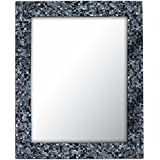 Decorative Smith Glass Accent Mirror (Pack Of 2) - (Sharkskin Silver)