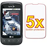 5x LG Optimus S LS670 Premium Clear LCD Screen Protector Shield Cover Guard Film Kit ~ General