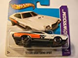 Hot Wheels HW Showroom 242/250 '72 Ford Gran Torino Sport White on Short Card 242/250