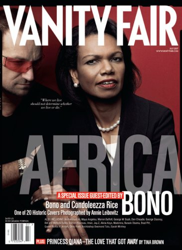 Vanity Fair July 2007 Africa Issue, Rice/Bono Cover