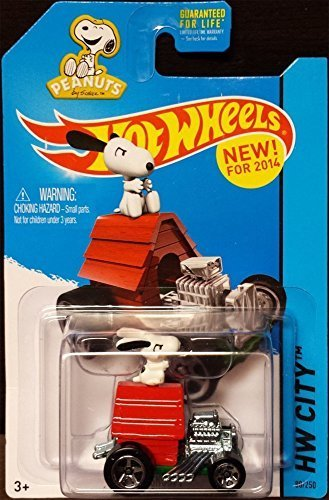 2014 Hot Wheels Snoopy with Dog House Car Peanuts Charlie Brown Charles Schulz * Vehicle (Hot Wheels Dog compare prices)