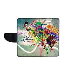 KolorEdge Printed Flip Cover For Redmi Xiaomi MI 4 Multicolor - (50KeMlogo10121XiaomiMI4)
