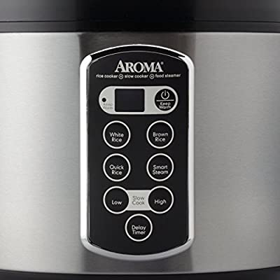 20-cup Stainless Steel Rice Cooker from Aroma