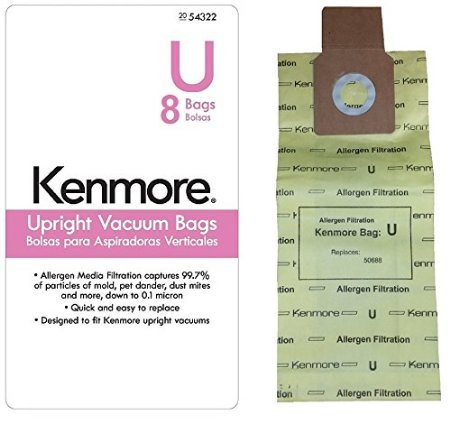24 UltraCare Kenmore Style U Upright Vacuum Bags, 50105 (Kenmore Bag U compare prices)