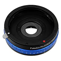 Fotodiox Pro Lens Mount Adapter with Built-in Aperture Iris, Canon EOS EF (NOT EF-S) to Micro Four Thirds (MFT) Camera from Fotodiox Inc.
