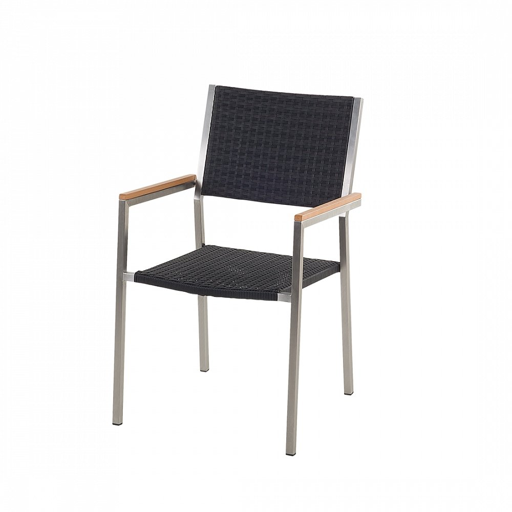 Designer Rattan Gartenstuhl – Edelstahl – Polyrattan – Sessel – Gartenmöbel – Rattanstuhl – GROSSETO günstig bestellen