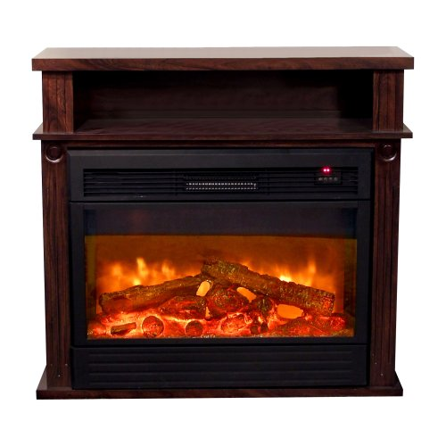 Yosemite Home Decor Df-Mp36 36-Inch Manchester Electric Fireplace With Faux Wood Logs