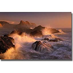 Ocean\'s Fury by Marc Adamus Premium Stretched Canvas (Ready to Hang)