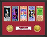 "NFL San Francisco 49Ers Sb Championship Ticket Collection, Bronze, 18 "" x 14"" x 3"""