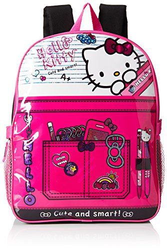 Hello-Kitty-Girls-Composition-15-Inch-Backpack-with-Lunch-Kit