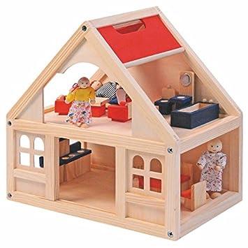 Woodyland Maison de poupée avec accessoires 21 pièces
