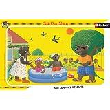 Nathan - 86031 - Puzzle Enfant avec cadre - Jeu d'eau Petit Ours Brun - 15 Pièces