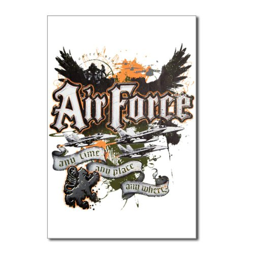 Postcards (8 Pack) Air Force US Grunge Any Time Any Place Any Where