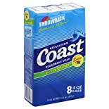 Coast Deodorant Soap Bars 8 - 4 oz bars 2 lb (907 g)