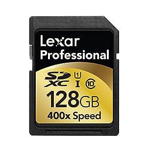 Lexar Professional 128GB Class 10 UHS-I 400x Speed (60MB/s) SDXC Flash Memory Card