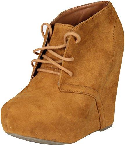 Soda Women Pager-S Boots,Hazel,7.5