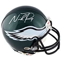 Nick Foles Philadelphia Eagles Autographed Riddell Mini Helmet - Memories - Mounted... by Sports Memorabilia