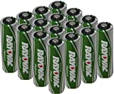 16 x Rayovac Platinum pre-charged (new hybrid replacement) 2100mAh Rechargable AA NiMH Batteries w/ free battery holders (16 aa batteries) packaging may vary