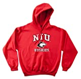NCAA Northern Illinois Huskies 50/50 Blended 8-Ounce Vintage Mascot Hooded Sweatshirt, X-Large, Red
