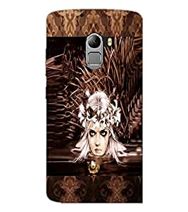 PrintDhaba Crying Girl Face D-3028 Back Case Cover for LENOVO K4 NOTE A7010 (Multi-Coloured)