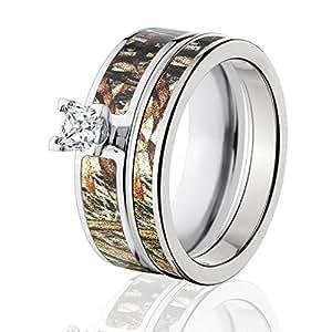 Amazon Mossy Oak Camo Bridal Set Camo Wedding Rings Duck Blind Camo Rings Jewelry