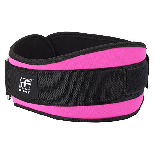 RitFit 6 Inches Pink Weightlifting Belt for Women Gym, Fitness, Crossfit, Bodybuilding - Great for Squats, Lunges, Deadlift, Thrusters (Pink, M (32