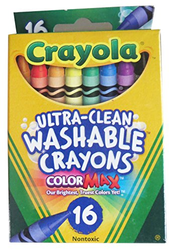 Regular Size Washable Crayons, 16-Color Pack - 1