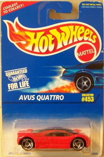 Mattel Hot Wheels 1996 1:64 Scale Red Avus Quattro Die Cast Car Collector #453 - 1