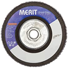 "Merit Flap Disc, Type 29, , 5/8""-11 Arbor, Zirconia Alumina, 4-1/2"" Diameter, Grit 40  (Pack of 10)"