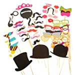 Prochive 58Pcs DIY Photo Booth Acceso...