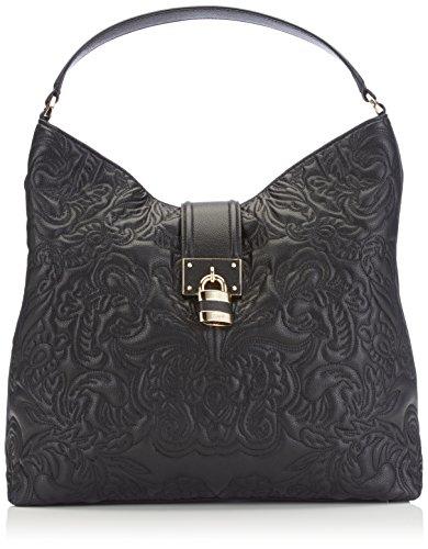 Cavalli Hobo bag Lace Diva 005, Borsa a spalla donna, Nero (Schwarz (999 999)), 36x32x10 cm (B x H x T)