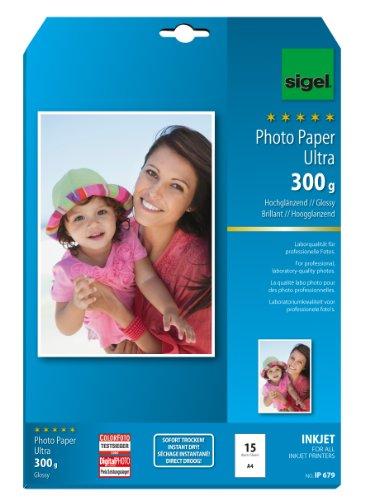 papier photo jet d'encre Ultra, trés brillant, A4, 300 g, super blanc, avec logiciel EasyPhotoPr...