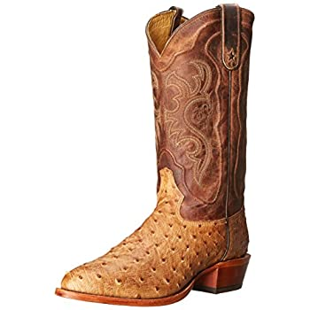 Tony Lama Men's Antique Tan Vintage FQ Ostrich Western Boot