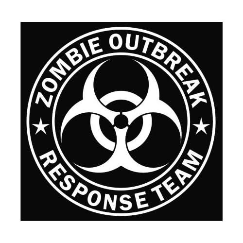 Zombie Outbreak Response Team White Die cut Vinyl Decal