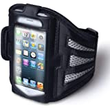 Yousave Accessories Sports Running Armband Case for iPhone 5/5S- Black/Grey