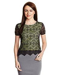 PrettySecrets Women's Body Blouse Shirt (PSW14BLS70 _Green_S)