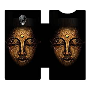 Skintice Designer Flip Cover with hi-res printed Vinyl sticker wrap-around for Micromax canvas Bolt D320