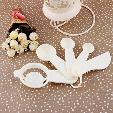 Zaki-12.5CM*6CM*3CM Chigh Quality Plastic Kitchen Tools 5pcs/Set Egg Strainer and Measuring Spoon