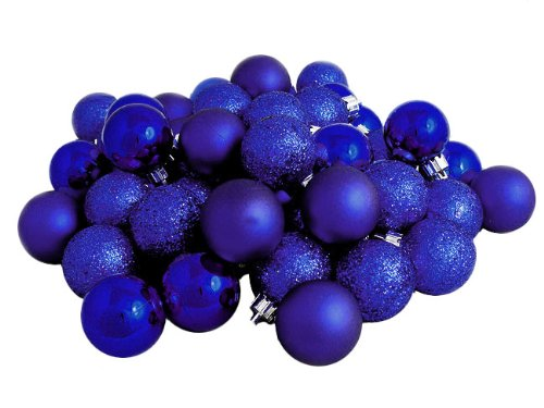 Royal Blue Christmas Ball Ornaments Set