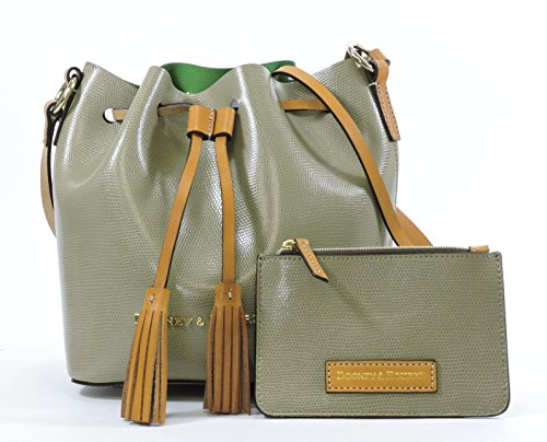Dooney & Bourke Siena Serena Crossbody,Taupe/Kelly Green