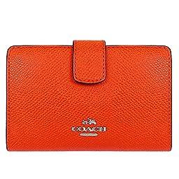 Coach Crossgrain Leather Medium Corner Zip Wallet 53436 Orange