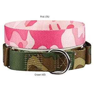 Guardian Gear ZW0716 10 75 Camo Martingale Collar for Dogs, 10 to 16-Inch, Pink