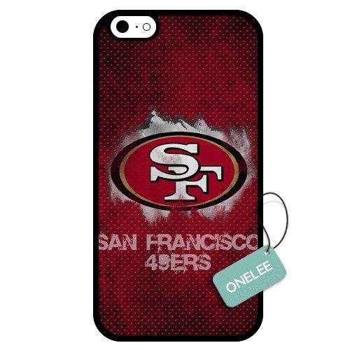 Onelee(Tm) - Customized Nfl San Francisco 49Ers Team Logo Design Tpu Apple Iphone 6 Case Cover - Black 05